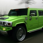 But just because your car is based on military design, doesn't mean it can pull off this shade of green.